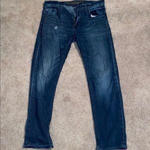 American eagle core flex slim straight jeans.